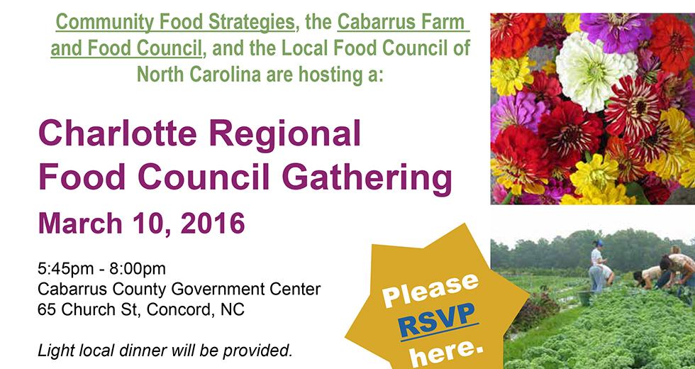 Charlotte Regional Food Council Gathering
