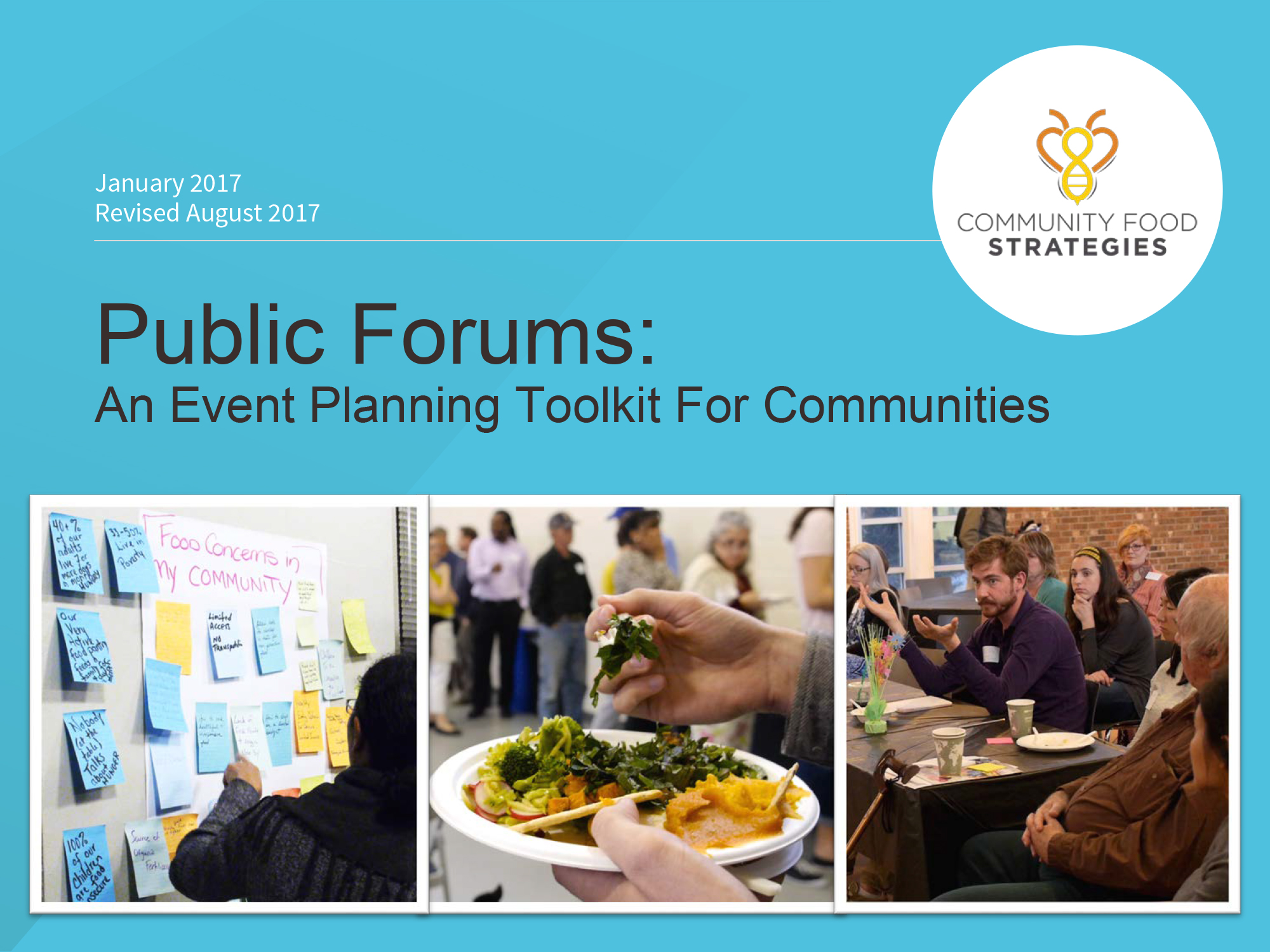 Download the newly revised Public Forum toolkit and worksheet to help plan your next community Forum.