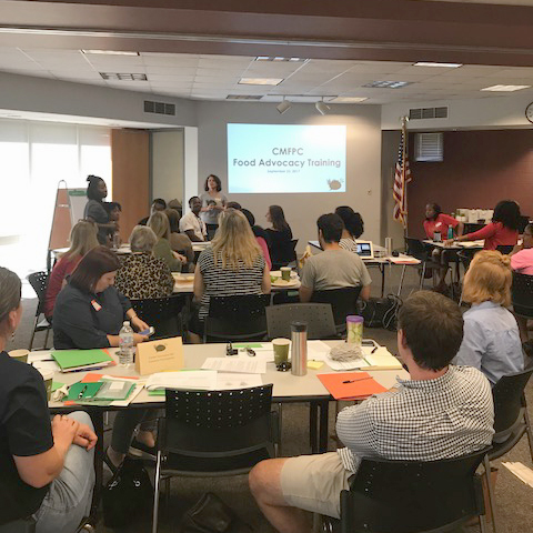 The Charlotte Mecklenberg Food Policy Council hosted a food advocacy training in 2017 for 50  community members and leaders. This year's micro-grant will build on that training.