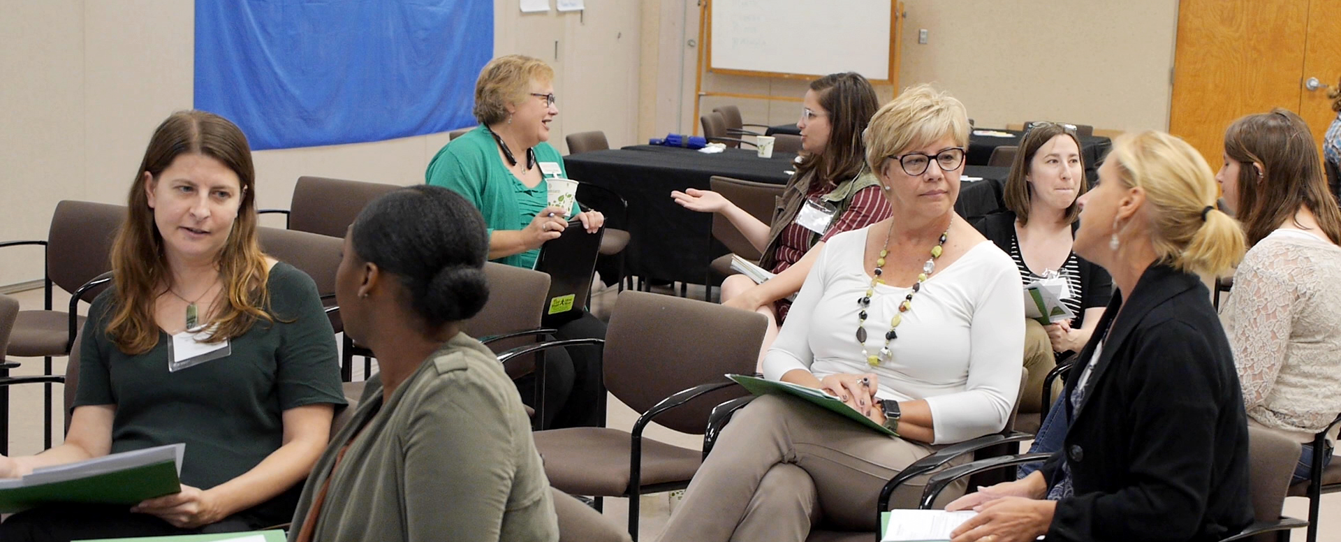 Attendees drafted and practiced talking points and their food council pitch with each other.
