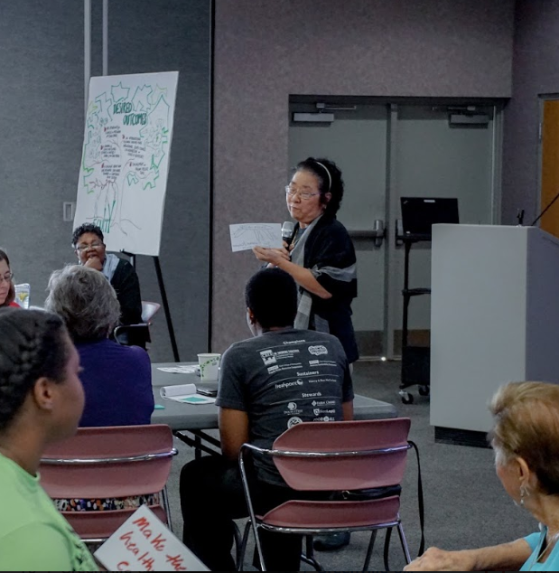 Participants shared their vision of what an equitable food system would look like.